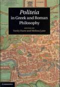 Politeia in Greek and Roman Philosophy book cover photo
