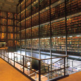 Photo of Beinecke library at Yale University.