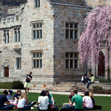 Photo of students on lawn.