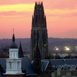 Photo of Yale in sunset.